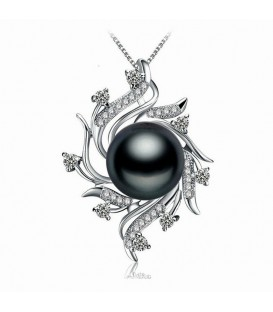 Seductive Black Pearl Necklace