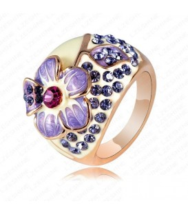 Blossoming Lilac Flower Ring