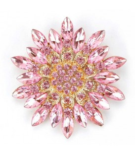 Very Pink Flower Brooch.