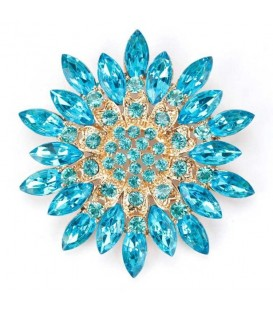 Very Blue Flower Brooch.