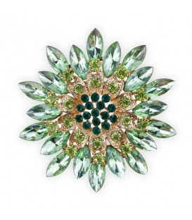 Very Green Flower Brooch.