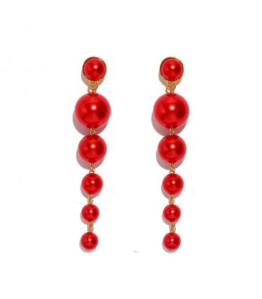Red Jazzy Pearl Drops
