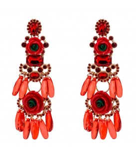 Red Sizzle Drop Earrings