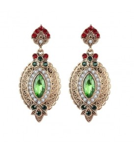 Green Glam Earrings