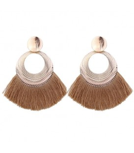 Very Boho Tassel Glam Earrings