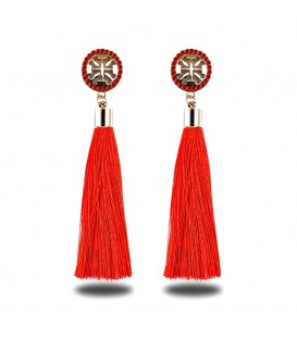 Fire Engine Red Shimmer Tassels