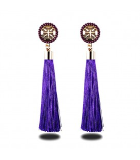Royalty Blue Shimmer Tassels