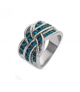 Entwine Blue Ring