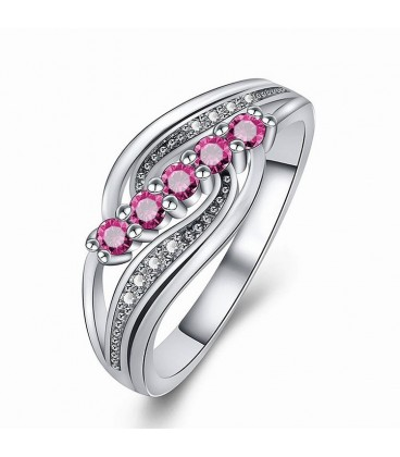 Wave Of Pink Ring