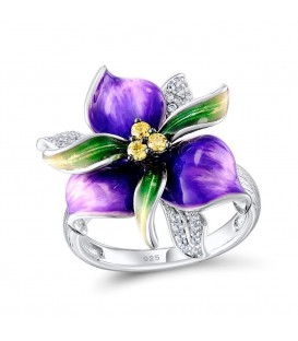 Purple Power Flower Ring