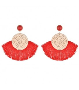 Tassels of Fiery Red