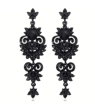 Glamourous Black Beauty Earrings