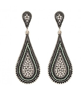 Swanky Teardrop Statement Earrings