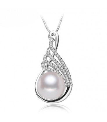 Single Tear Drop Pearl Pendant Necklace