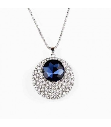 Rightly Blue Pendant Statement Necklace