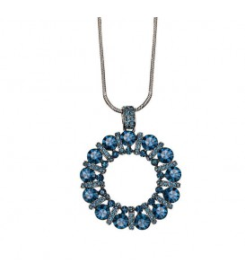 Circle of Blue Statement Necklace