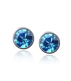 18 K Gold Plated Austrian Crystal Stud Earrings