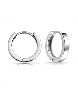 Wide Hoop Silver Earrings