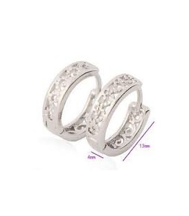 Silver Classic filigree Hoop Earrings