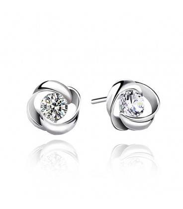Beautiful High Quality Clear Crystal Stud Earrings