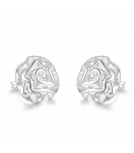 925 Sterling Silver Rose Design Stud Earrings