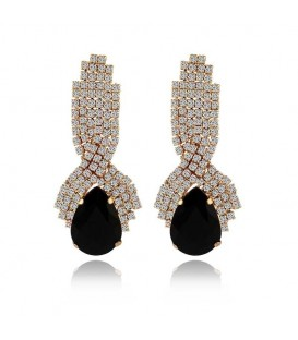 Water Drop Rhinestone Crystal Vintage Earrings