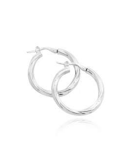 Elegant Sterling Silver Hoop Earrings