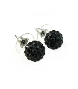 Crystal Disco Ball Stud Earrings.