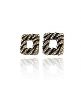 Zebra Stripe Stud Earrings