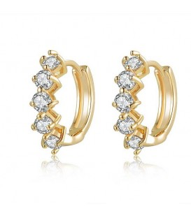 Be Dazzled Semi Hoop Earrings
