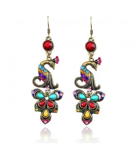 Colourful Elegance Peacock Earrings