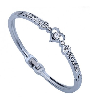 Crystal Heart Bangle
