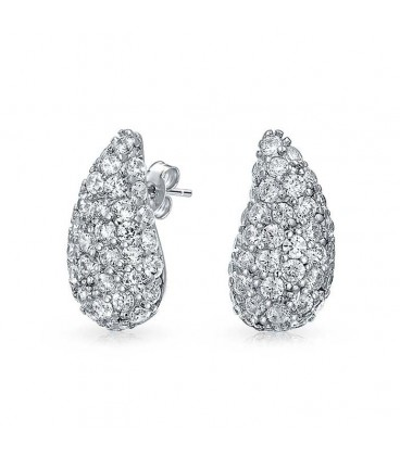 Crystal Teardrop Studs