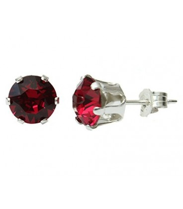 Ruby Red Studs