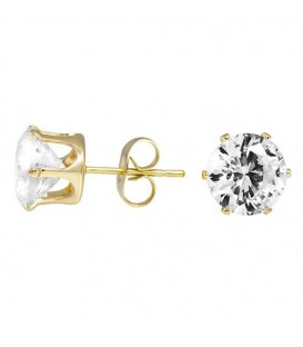 Luxury Austrian Round Crystal Stud Earrings