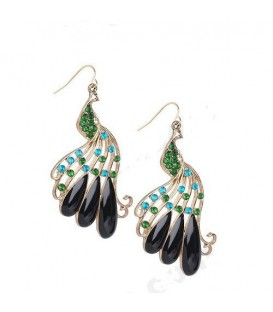 Ritzy Peacock Earrings