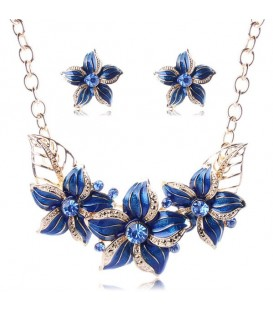 Royal Blue Flower Set