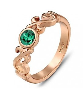 Dainty Green Ring